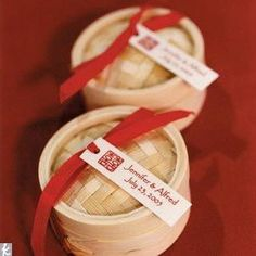 Small Bamboo Steamer Box - 17 Traditional Chinese Wedding Ideas, http://hative.com/traditional-chinese-wedding-ideas/,