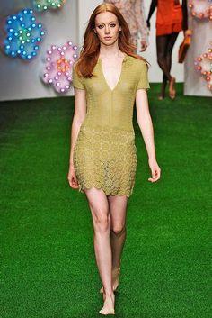 Crochetemoda: Vestido Verde de Crochet VII