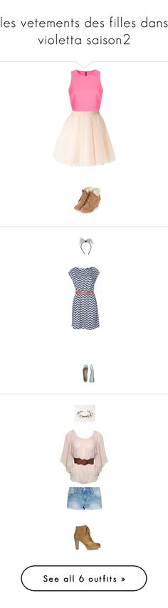 """les vetements des filles dans violetta saison2"" by carole-heymans ❤ liked on Polyvore featuring Topshop, Moschino, Poem, MAISON MICHEL PARIS, Gap, Jigsaw, Jane Norman, MANGO, Quiz and Converse"
