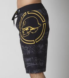Metal Mulisha Bestow Boardshorts. Yellow. Summer.