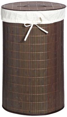 Wäschebox Mila Bambus dunkelbraun 63cm 40cmØ: Amazon.de: Küche & Haushalt