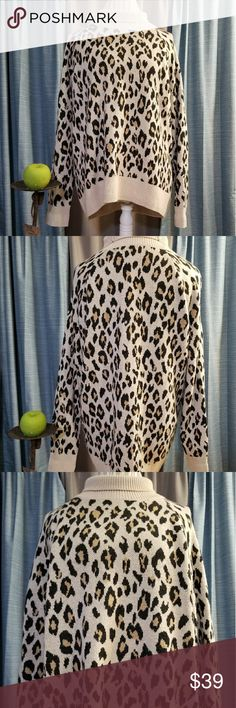 ANN TAYLOR ITALIAN YARN SWEATER!! SIZE:large   BRAND:Ann Taylor   CONDITION:like new, no flaws    COLOR:tan/brown/black  Cute leopard design!   POSH AMBASSADOR, BUY WITH CONFIDENCE!   CHECK OUT MY OTHER ITEMS TO BUNDLE AND SAVE ON SHIPPING!   OFFERS WELCOME!   FAST SHIPPING! Ann Taylor Sweaters