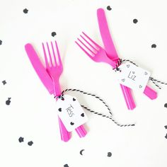 *DIY Party Naamkaartjes aan je bestek* Confetti & Balloons