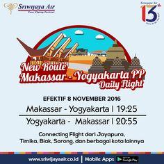 Rute Baru Sriwijaya Air Mulai 08 Nov 2016. Sriwijaya Air Group