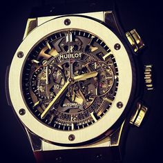 Hublot Big Bang Aero Bang Classic Fusion Chronograph in gold new for 2013.