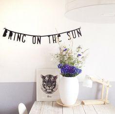 #Wordbanner #tip: Bring on the #sun - Buy it at www.vanmariel.nl - € 11,95
