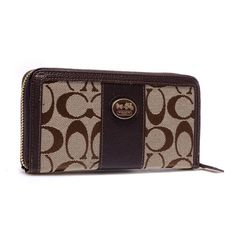 #HighQualityCoach What can I say I really like the Coach Zippy In Signature Large Coffee Wallets BLV.