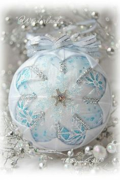 I enjoy making quilted ornaments