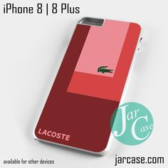 Lacoste Red Style Phone case for iPhone 8 | 8 Plus