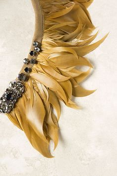 Lion Feather statement necklace from Anthropologie - $198