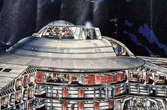 Detail from Star Trek: TMP poster of the Enterprise Refit.