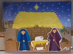 make your own magnetic nativity scene for church busy bags