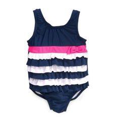 Traje de Baño con Olanes para Bebé Osh Kosh-Azul con Blanco  5b5e2f9206a10