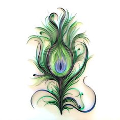 Really beautiful peacock feather. Color: Green. Tags: Popular, Amazing, Elegant