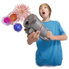Your own indoor fireworks display projected on the wall - complete with cool sound effects! Uncle Milton Fireworks in My Room http://www.mastermindtoys.com/Uncle-Milton-Fireworks-Light-Show.aspx