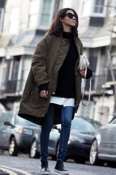 parka + sneaker-boots