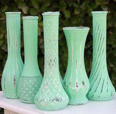 Aqua Mint Vase Shabby Chic Vintage Bud Vase by RedEggBoutique http://shabify.com/s/aqua-mint-vase-shabby-chic-vintage-bud-vase-by-redeggboutique/