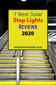 7 Best Solar Step Lights Reviews. The steps do not only ad décor to our homes and parks but also protect us from accidents. Wired lights are not suitable for steps and battery lights often stop working after a while. In this condition, solar lights are ideal. Our aim is to make you aware of the best solar step lights so you can install them in your home or any other area. #solarsteplights #solarlights #solarworksnola #steplights #homedecor #ideas Solar Step Lights, Battery Lights, Solar Products, Stop Working, White Light, Solar Panels, Outdoor Lighting, Parks, It Works