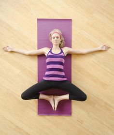 Relieve Cramps With These 6 Yoga Poses for Your Period: Goddess Pose - Supta Baddha Konasana