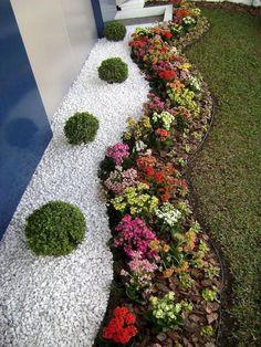 60 Jardins Com Pedras Decorativas Fotos Lindas Jardinagem Yard