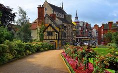 Beautiful Shrewsbury, the county town of Shropshire: