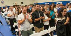 Photo Caption: Students applaud at Suffolk County Community College's Academic Convocation on September 3, 2013.