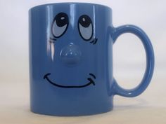 Funny smiling face with protruding 3D nose mood emotion collectible coffee mug