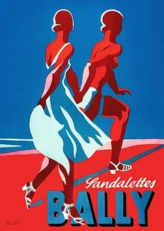 Vintage Advertising Posters | Bally Shoes