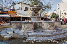 Fontana Morosini, the ornate Venetian fountain in Heraklion, Crete