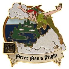 Your WDW Store - Disney 40th Anniversary Pin - Magic Kingdom - Peter Pan's Flight
