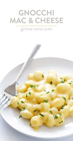 This gnocchi mac and cheese recipe is rich, creamy, naturally gluten-free, simple to make, and SO comforting and delicious!