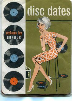DISC DATES vintage 1960s unworn nylon stockings in packaging  PenelopeHeavenly on etsy