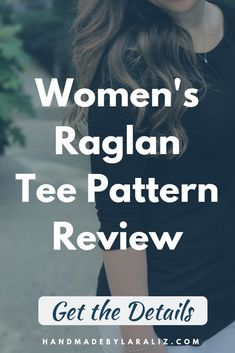The Lane Raglan was actually one of my first PDF patterns that I bought but I never made it! I actually put the Lane Raglan on my to try to motivate … Pdf Sewing Patterns, Dress Patterns, Sewing Ideas, Sew Your Own Clothes, Sewing Projects For Beginners, Diy Projects, Fall Sewing, Sewing Clothes Women, Sewing Courses