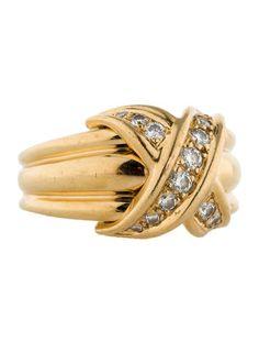 Tiffany & Co. Diamond X Crossover Ring