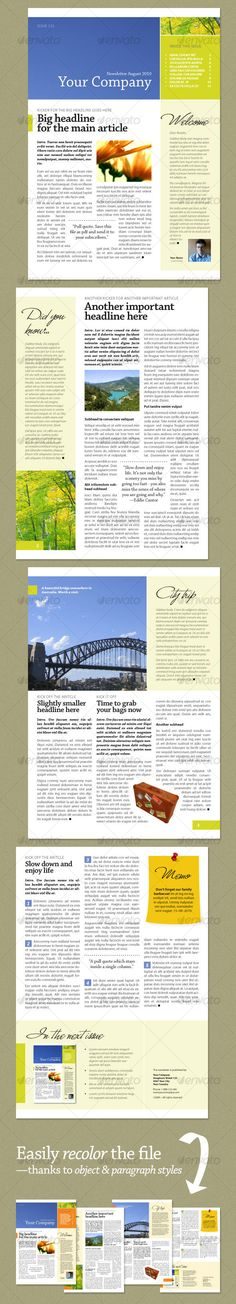 Sample Company Newsletter Html Marketing Newsletter Template Html
