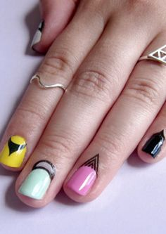 For an extended mani...cuticle tattoos nail art!
