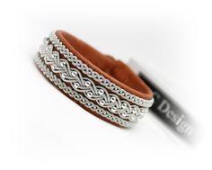 Sami bracelet in reindeer leather made in Sweden by AC Design www.acdesign.se…