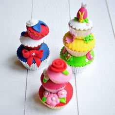 Stacked Cupcakes