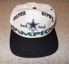 40fb622ae2862 Dallas Cowboys Superbowl Champions LOGO 7 Snapback Hat Cap Rare Vtg 90s NFL