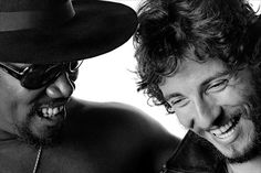 smiles  Clarence Clemons and Bruce Springsteen