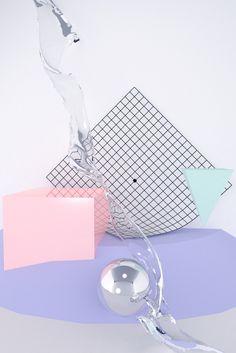 jpg on Behance / pastel + art installation + grid Web Design, Happy Design, Design Blog, Graphic Design, Memphis Design, Vaporwave, Conception Memphis, Art Japonais, Layout
