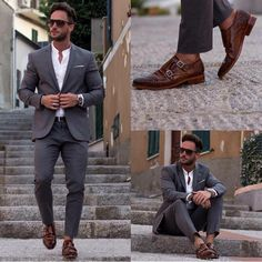 That's a classic example of shoes stealing the show Love it ! Men's fashion for summer Men suit
