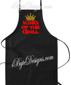 Custom  King of the Grill  apron by iByteDesigns on Etsy