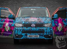 wrapkings-stickerfitters-vehicle-wrapping-signwritting-livery-wrap-3m-ij380-ij1080 Vw T5 Tuning, T6 California, Eco Friendly Cars, Girly Car, Van Wrap, Van Design, Car Accessories For Girls, Lifted Ford Trucks, Cute Cars
