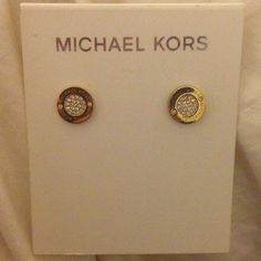 Michael Kors Earrings- Barely Worn Gold Michael Kors earrings- minimal wear. I also have the bag they came in. Authentic! Michael Kors Jewelry Earrings