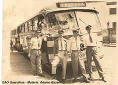 Monobloco Mercedes Benz O 321 da Empresa de ônibus Guarulhos nos anos de 1960.Empresa criada em 1946 é a mais tradicional do setor de transportes urbanos da cidade em operação. A empresa sempre acompanhou as mais modernas tendências, renovando a frota com os melhores modelos de cada época. Foto: EAO Graulhos Matéria: Adamo Bazani