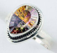 triesen Mystic Quartz Gemstone Ring