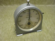 Vintage JOHNSONS TIMER English clock systems England wind up timer clock