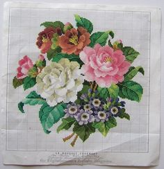Le bouquet charmant. Cross stitch pattern PDF. por rolanddesigns
