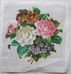 Le bouquet charmant. Cross stitch pattern PDF. Instant
